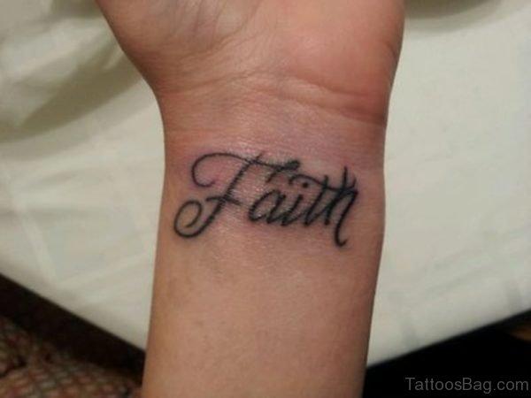 Unique Faith Tattoo On Wrist