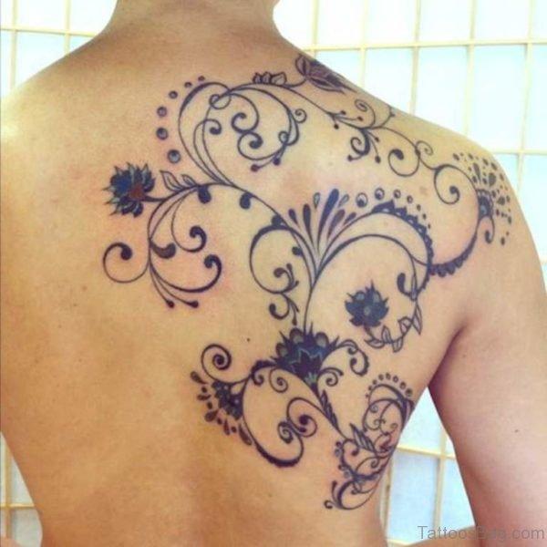 Unique Flowers Tattoo