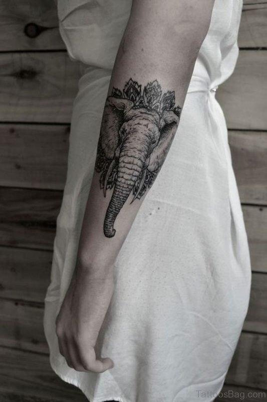 Unique Forearm Elephant Tattoo