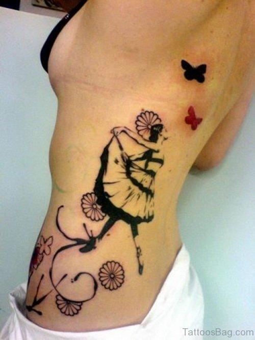 Unique Rib Tattoo