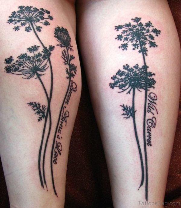 Unique Tree Tattoo On Legs