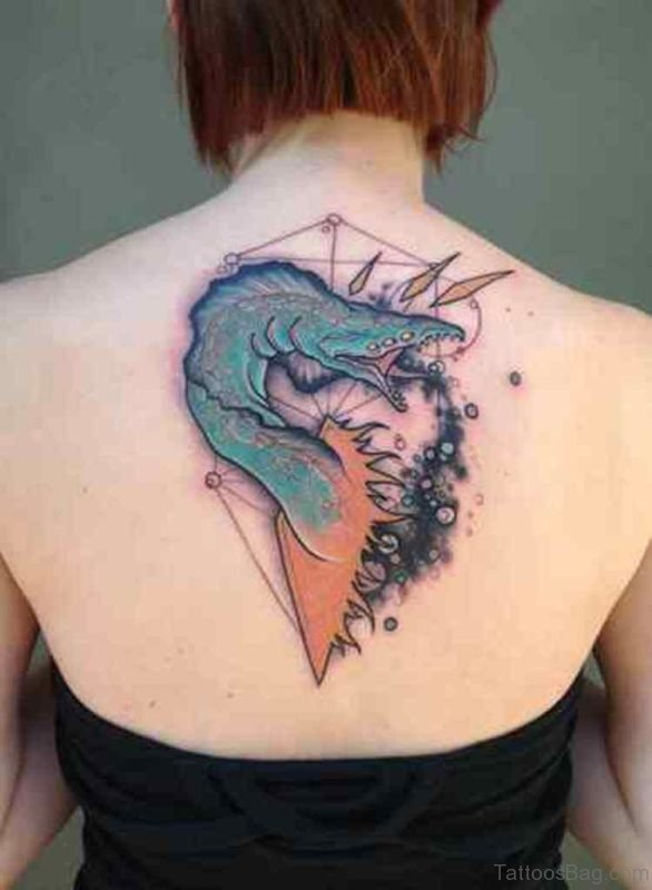 Unique Upper Back Tattoo