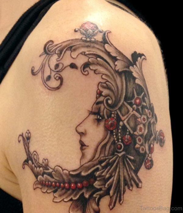 Venetian Mask And Flower Tattoo