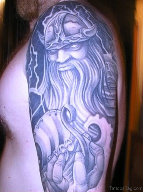 Viking Tattoo On Shoulder