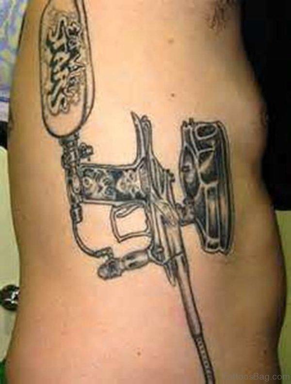 Vintage Gun Tattoo