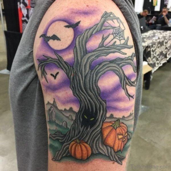 Vintage Tree Tattoo
