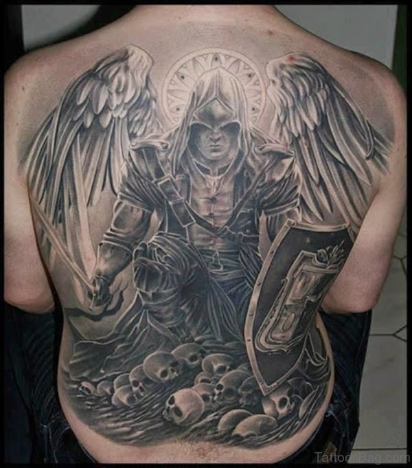 Warrior Angels Of God Tattoos