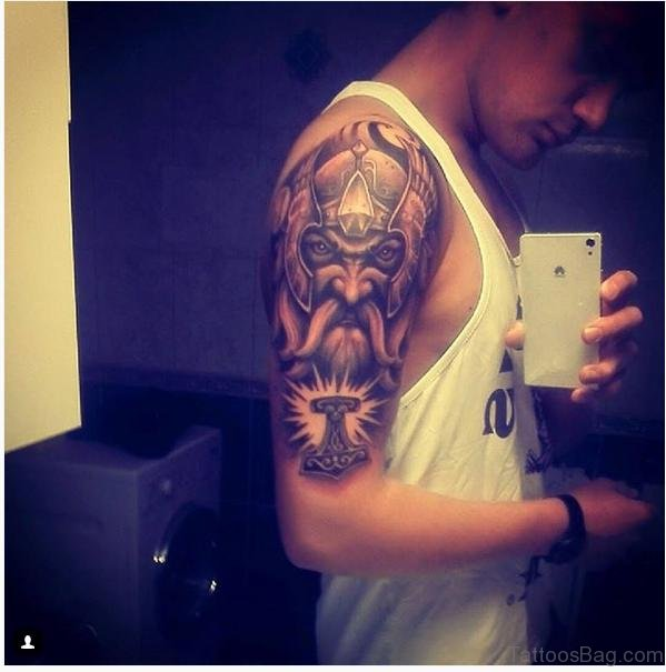 Warrior Tattoo On Shoulder