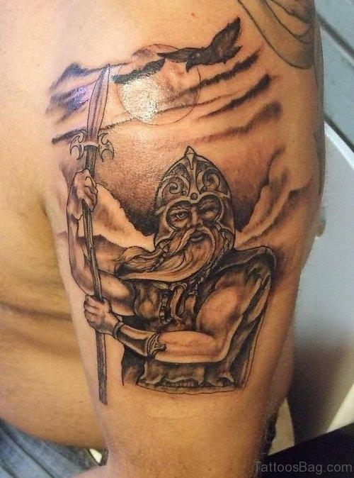 Warrior Tattoo On Shoulder