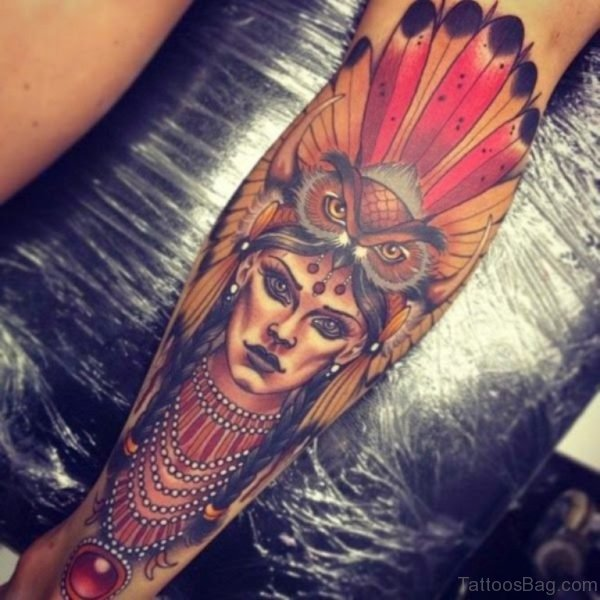 Warrior Tattoo on Wrist