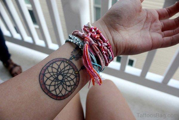 Wheel Tattoo On Wrist