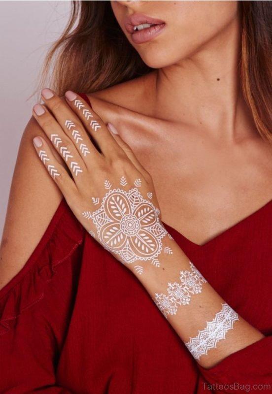White Mandala Tattoo Design