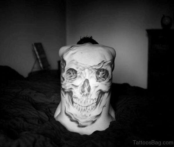 White Skull Tattoo