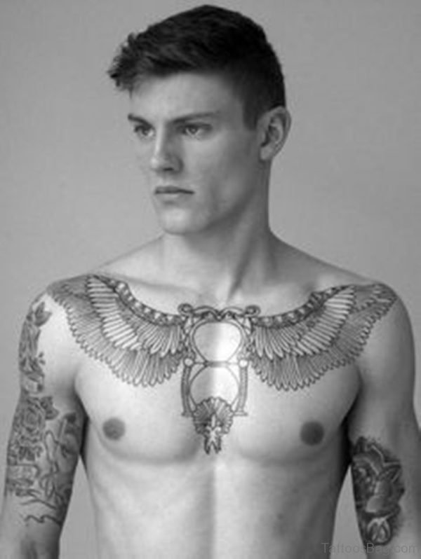 Winged Hour Glass Tattoo