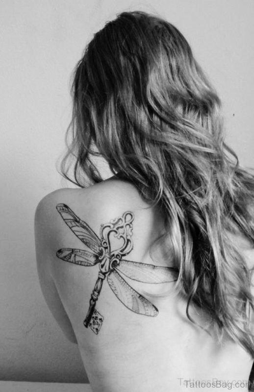 Winged Key Tattoo