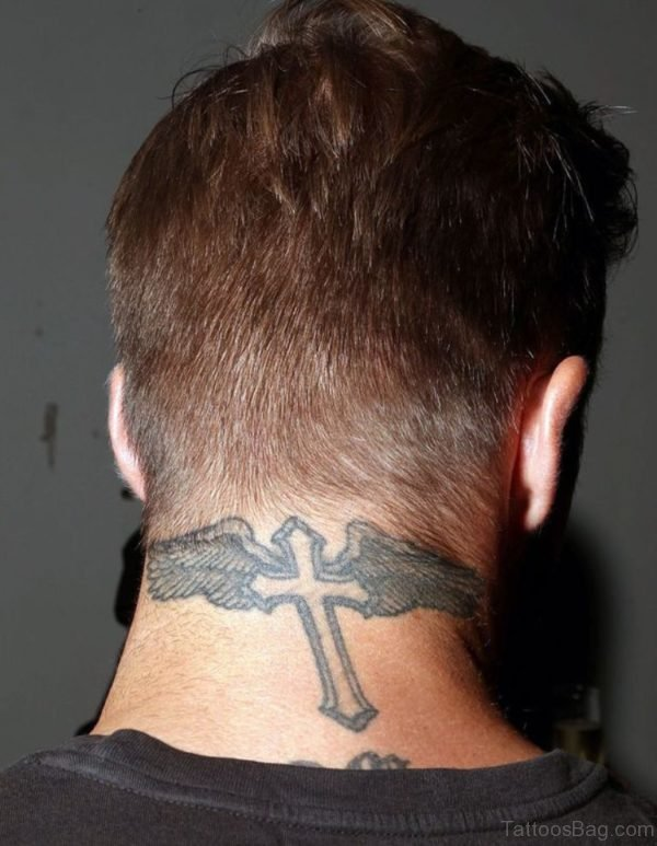 Wings And Cross Tattoo