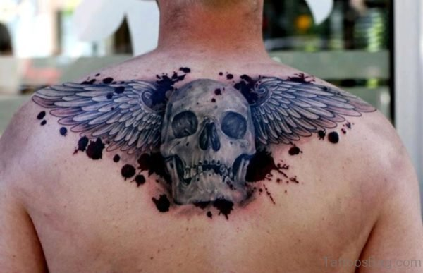 Wings And Skull Tattoo