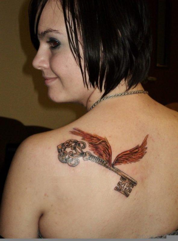 Wings Key Tattoo