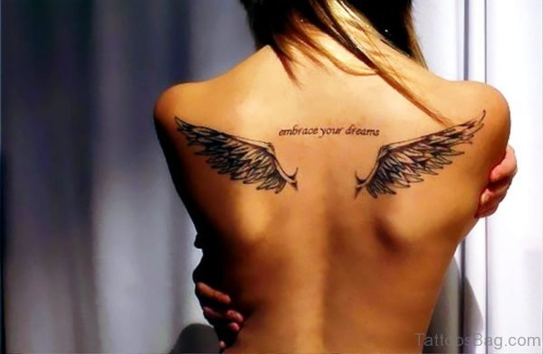 Wings Tattoo On Both Shoulder