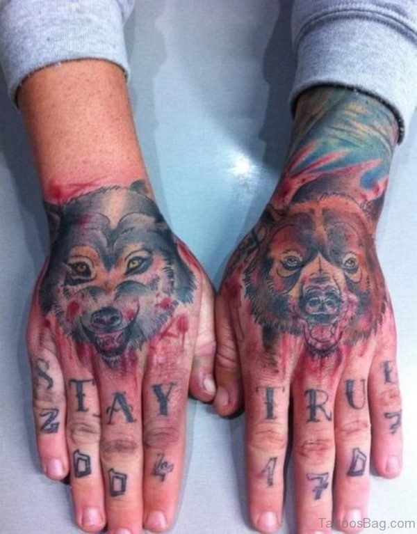 Wolf And Bear Tattoo