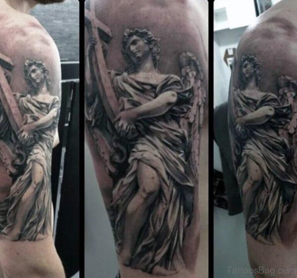 Wonderful Angel Tattoo On Shoulder
