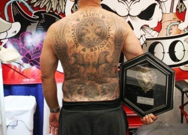 Wonderful Archangel Tattoo On Back