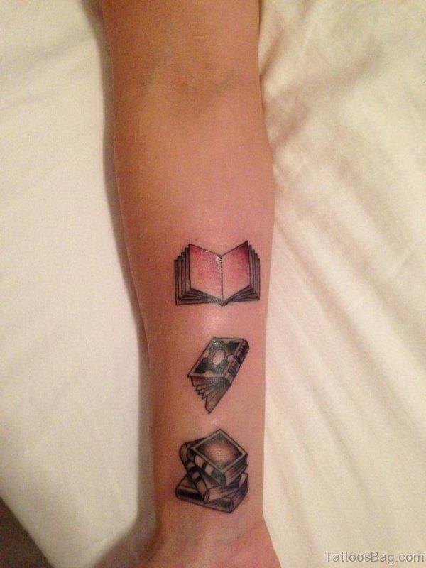 Wonderful Book Tattoo On Wrist