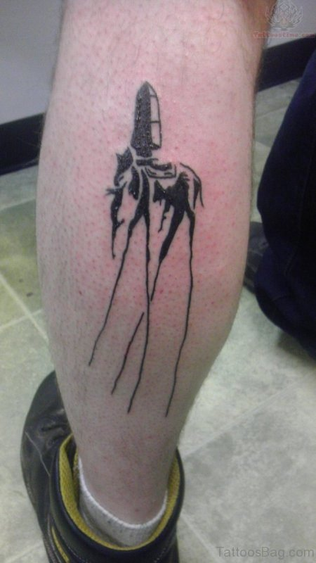 Wonderful Dali Elephant Tattoo On Leg