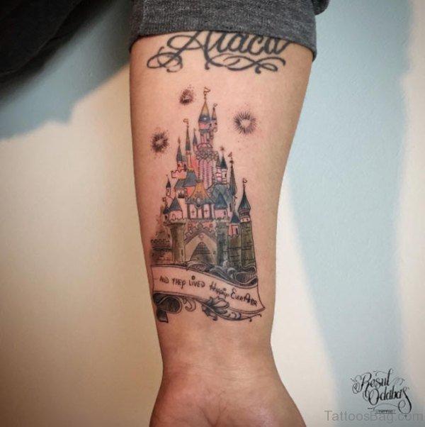 8 innovative castle wrist tattoos. Black Bedroom Furniture Sets. Home Design Ideas