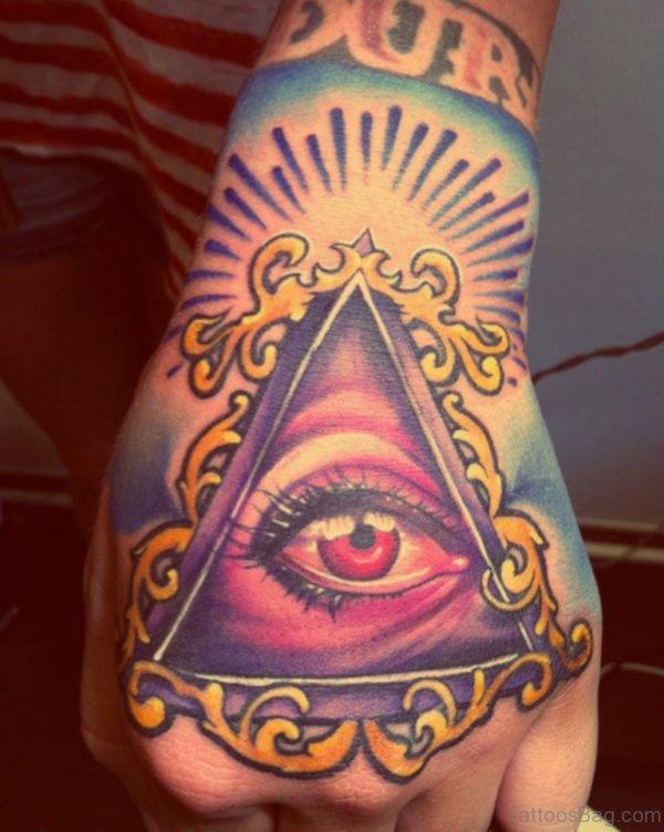 Wonderful Eye Tattoo On Hand
