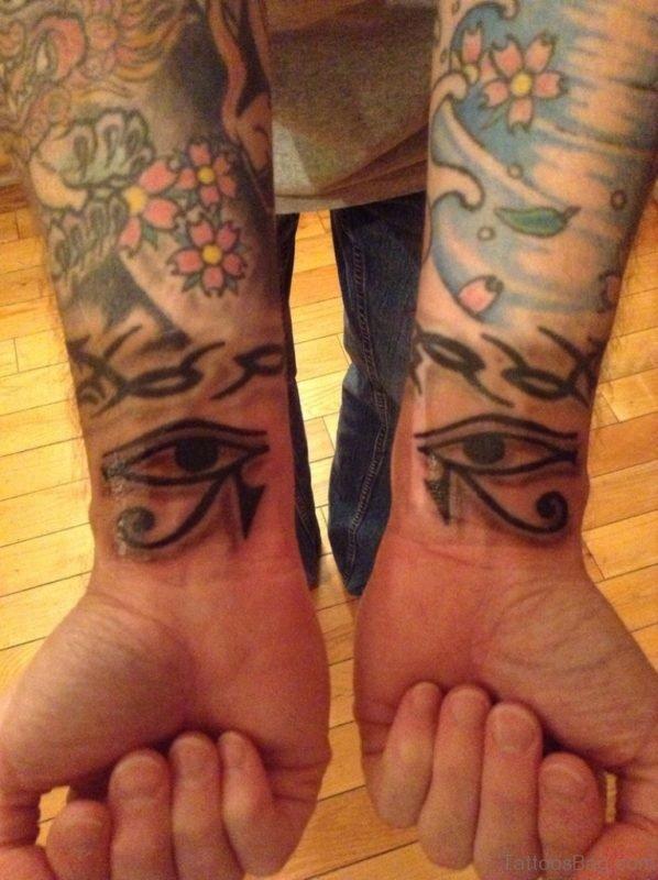 Wonderful Eye Tattoo On Wrist