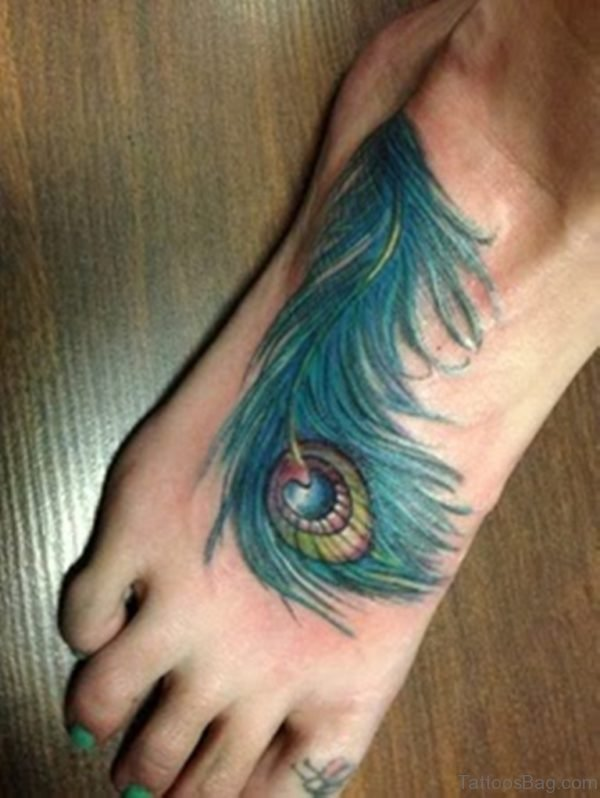 Wonderful Feather Tattoo Design