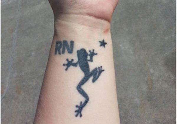 Wonderful Frog Tattoo On Wrist