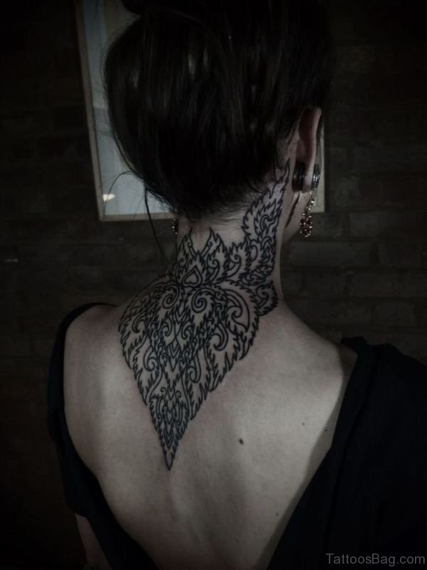 Wonderful Mandala Neck Tattoo