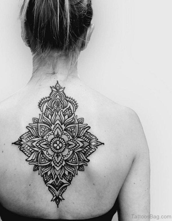 Wonderful Mandala Tattoo On Back