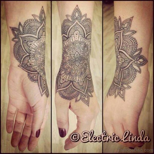 Wonderful Mandala Tattoo On Wrist