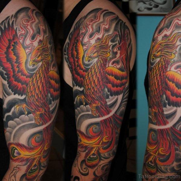Wonderful Phoenix Tattoo On Shoulder