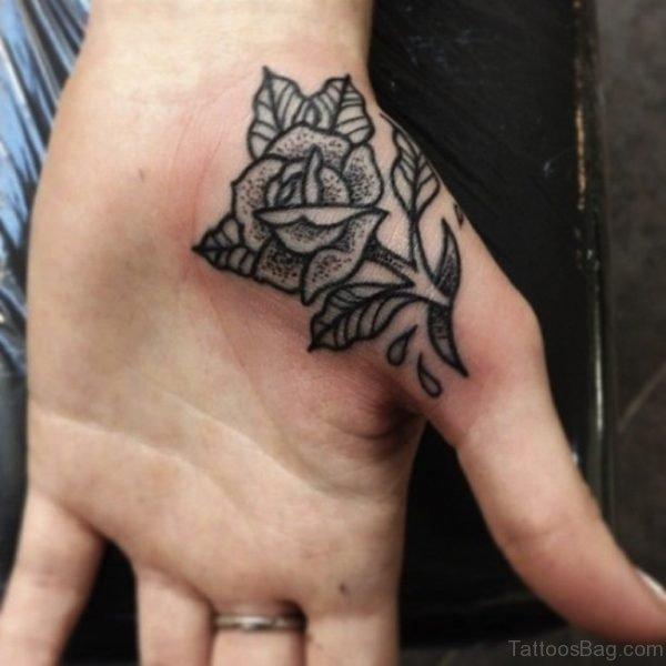 Wonderful Rose Tattoo On Hand