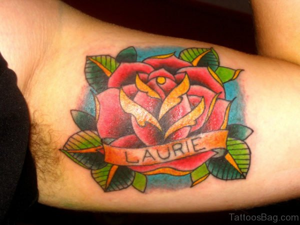 Wonderful Rose Tattoo On Shoulder