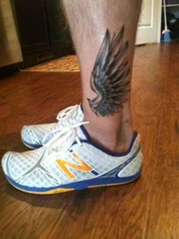 Wonderful Wings Tattoo On Ankle