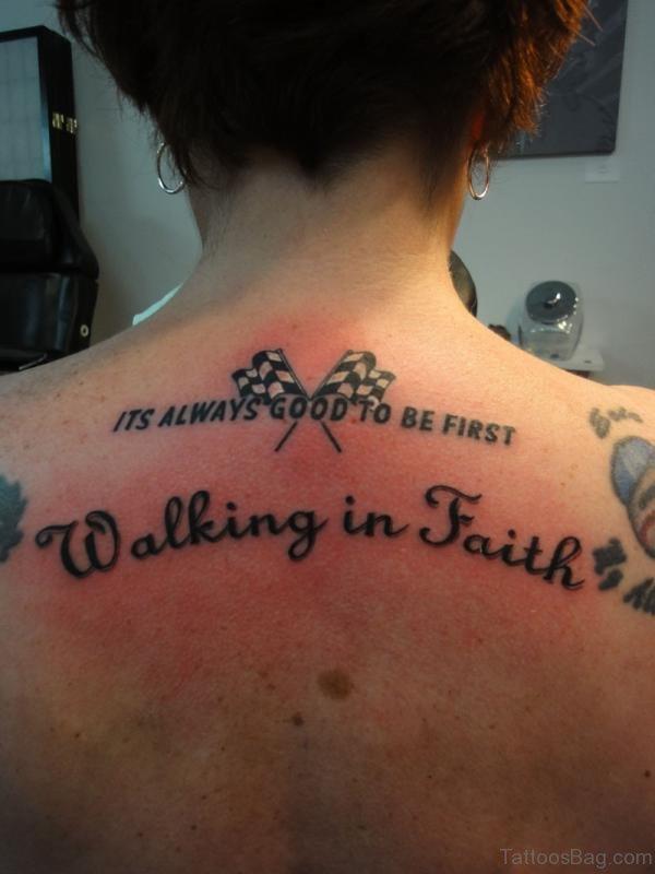 Wonderful Word Tattoo On Back