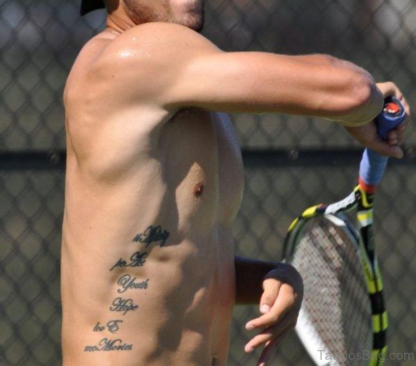 Word Tattoo Design On Rib