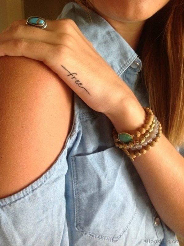 Word Tattoo On Hand