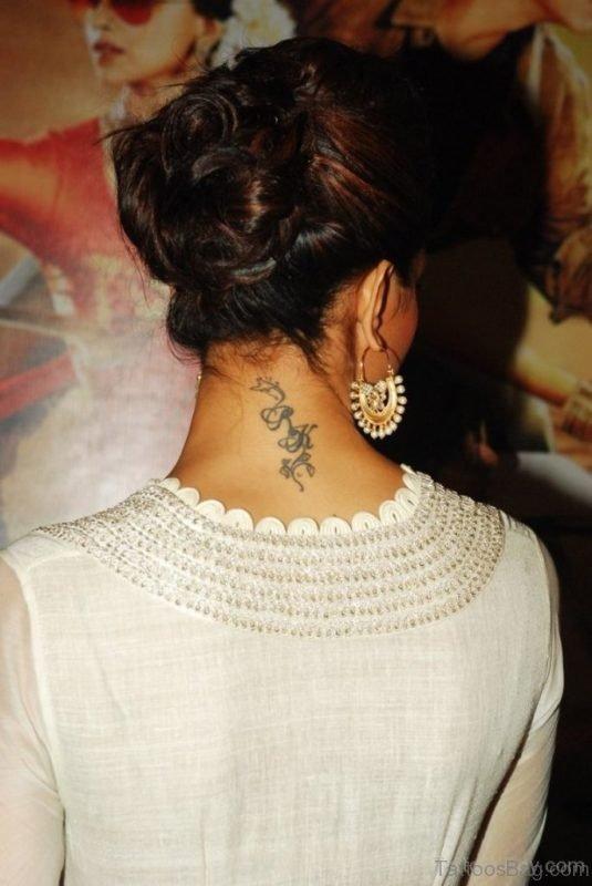 Word Tattoo On Nape