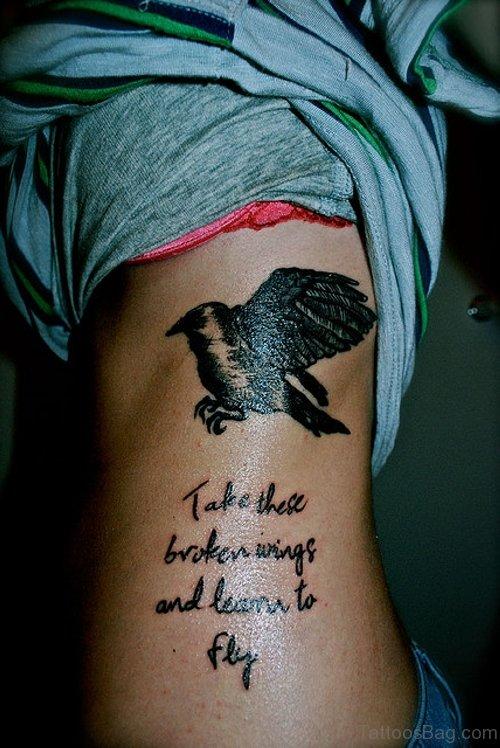 Word Tattoo On Rib