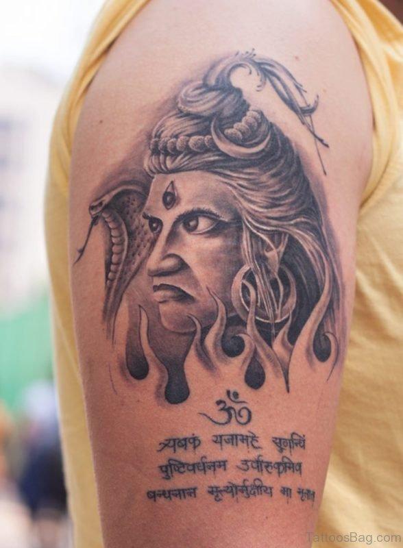 Wording And Shiva Tattoo