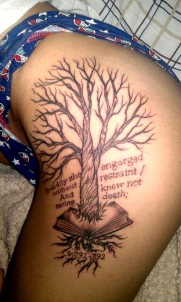 35 Fabulous Tree Tattoos On Thigh