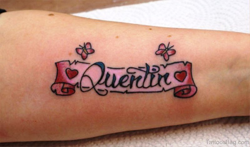 42 Lovely Scroll Tattoos On Arm