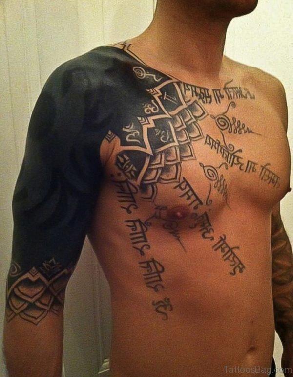 Wording Tattoo Chest