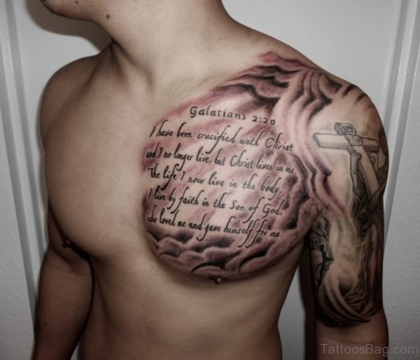 Wording Tattoo On Chest